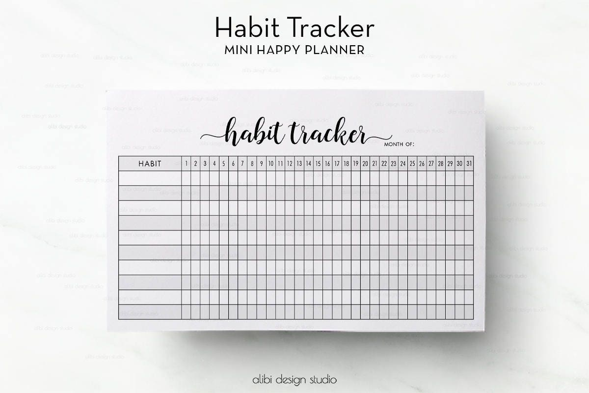 It is a graphic of Intrepid Weekly Habit Tracker Printable