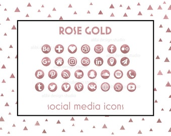 Business cards business card template printable business social media icons rose gold icons social icons website icons blog icons resume icons business card icons social buttons colourmoves