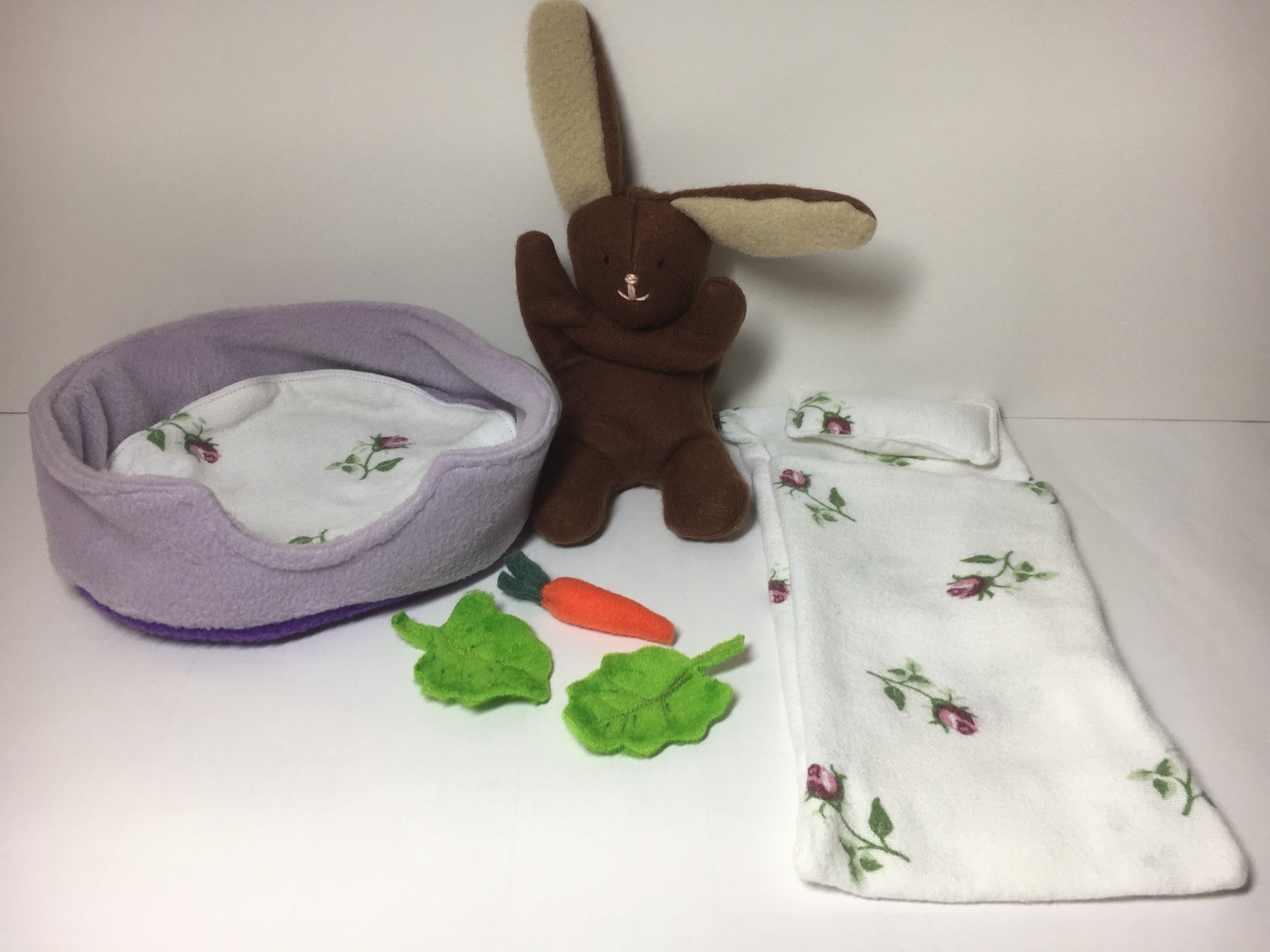 Bunny playset   play set   Rabbit sleeping bag   pillowbed b088e8a79