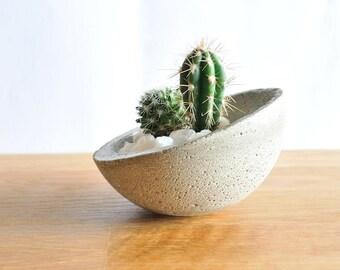 Beton-Topf Kaktus Topf, Pflanze Topf, Kleine Pflanzer, Betonschale, Kerzenständer, Teelichtkerzenhalter Juwelenschale, Natur und Zen, Kaktus