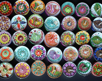 Set of 25 henna tealights henna decor /henna candle /mehndi favors/ party favors / wedding decor/ holiday gift
