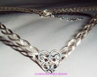 Celtic Knot Heart Circlet Crown adjustable weddings handfasting ren larp sca