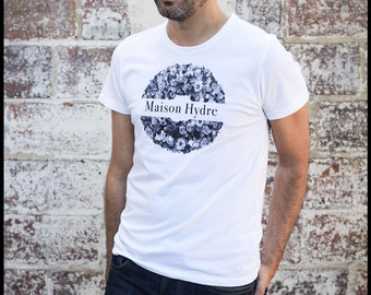 """T - Shirt man """"the Crown of flowers"""""""