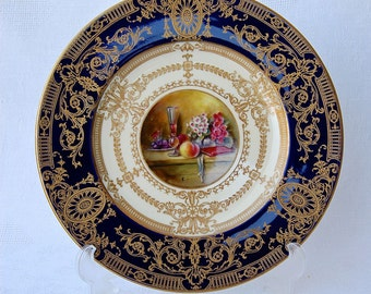 Antique collectible Royal Worcester Cabinet Plate Artist Signed