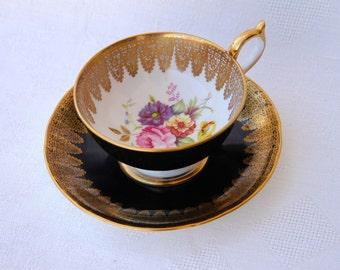 Footed Cup & Saucer Set Aynsley John Bone China
