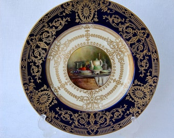 Cabinet Plate Royal Worcester Artist Signed