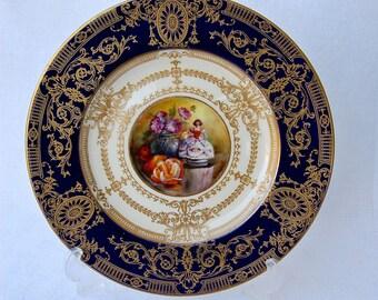 Royal Worcester Cabinet Plate Artist Signed