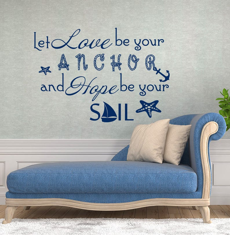 Let Love Be Your Anchor Decal Family Vinyl Stickers Etsy