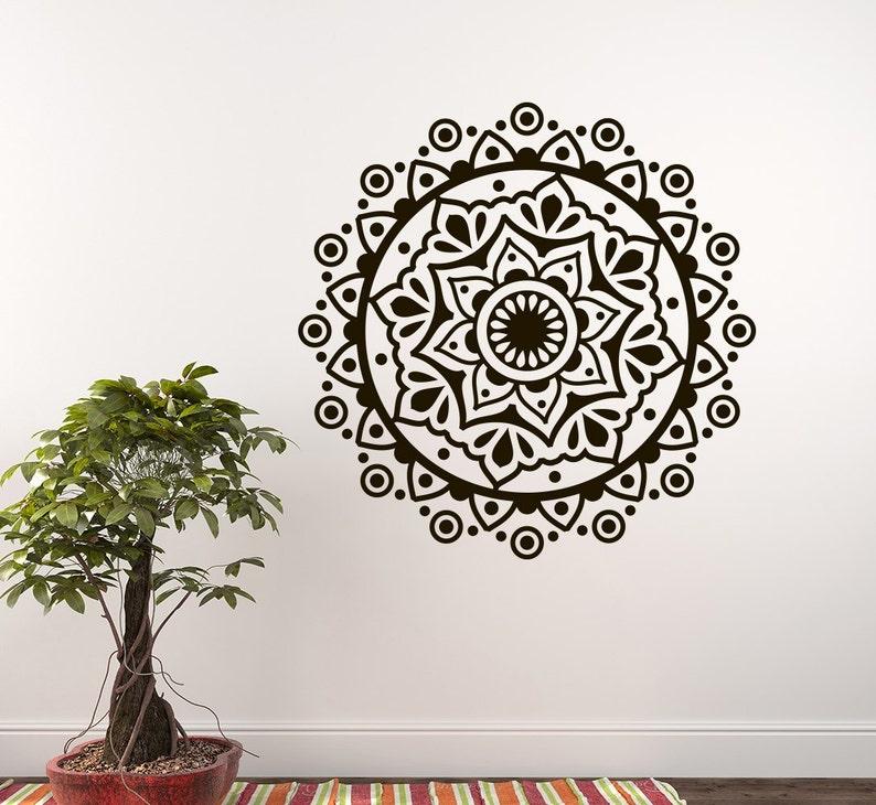 Mandala Wall Decals Yoga Studio Wall Decal Bedroom Sticker Etsy