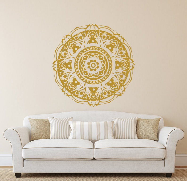 Wall Decals Mandala Mandala Sticker Bohemian Bedroom Decor Etsy