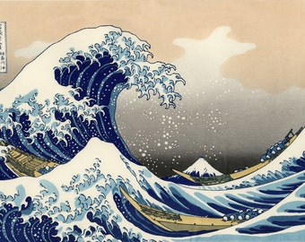 The Great Wave of Kanagawa fully doubled