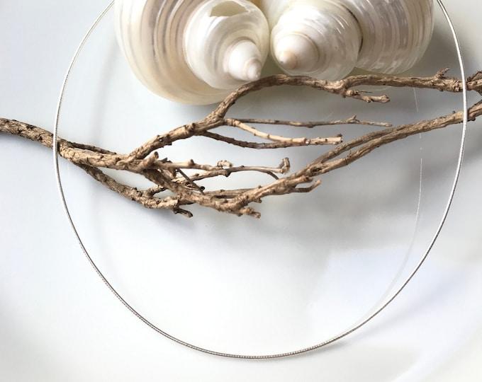 Omega - silver hoop (925), 1 mm/ length 42 cm
