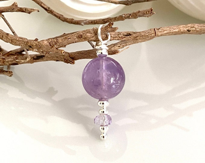 Pendant made of amethyst, ametrin and silver