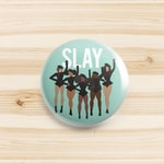 Black girl magic Badge | slay | magnet | pin | button | afro brooch | ethnic accessories | body positive queen | black art | 2 sizes