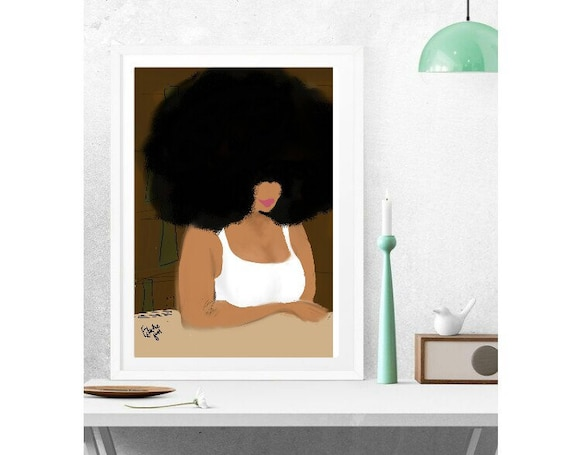 gift ballet afro ethnic print Multicultural BLACK art Black girl magic Eclectic Gift various sizes Prints Fine art