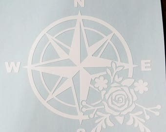 Compass Rose Vinyl Decal