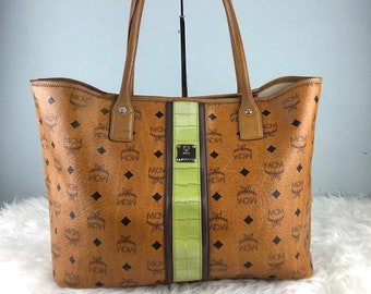 adfa5efd9f07 Rare   Collection Authentic MCM Cognac Visetos Tote Bag   MCM Black   Vintage  MCM Bag