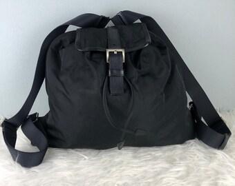 da5ada72884f ... sweden rare collection authentic prada nylon black backpack prada bag  prada bagpack b55e1 f4985