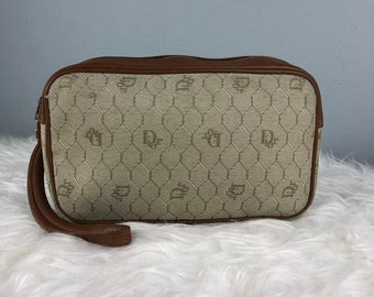 RARE   COLLECTION Authentic Christian Dior Monogram Pouch Bag   Christian  Dior Bag   Vintage Christian Dior Bag 5d0b7405c4