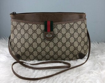 02516809065d RARE & COLLECTION Authentic Gucci Anniversary Collection Monogram GG Two  Way Shoulder Clucth Bag / Gucci Bag / Vintage Gucci Bag