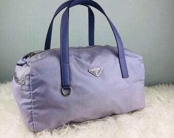 RARE   COLLECTION Authentic Prada Nylon Purple Tote Bag   Prada Bag   Vintage  Prada Bag 70c3027eb402c