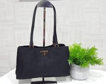 1deffadb602bc7 ... best price authentic prada nylon blacktote bag prada bag prada tote bag  ff24b f3e8b