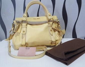 ec8868ff2dd3 RARE   COLLECTION Authentic Miu Miu Mini Bow Satchel Shoulder Bag  Miu Miu  Bag   Miu Miu Bag