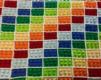 Cotton LEGO blanket