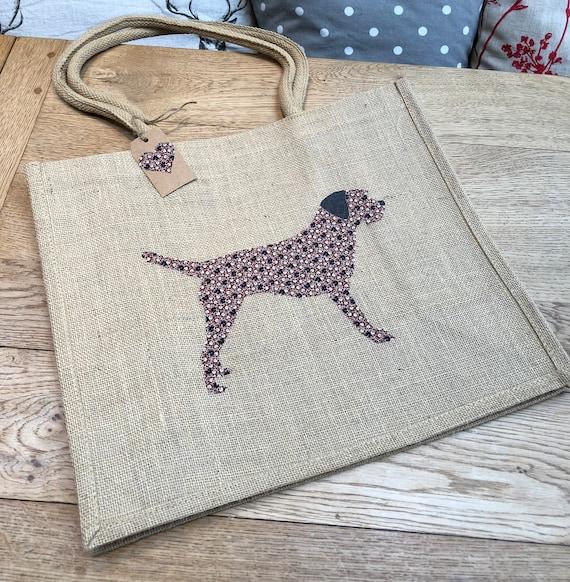 luxus jute einkaufstasche mit einem border terrier hund etsy. Black Bedroom Furniture Sets. Home Design Ideas