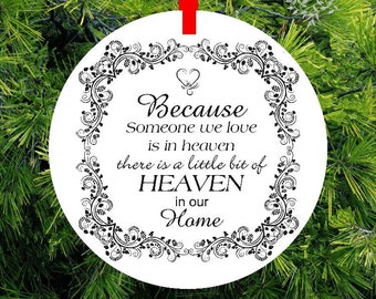 Guardian Angel Wing Because Someone We Love Memorial Ornament Gift of Remembrance loved one -#GA28 - lovebirdschristmas