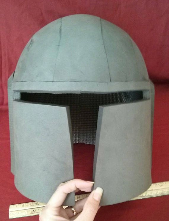 Pattern Simple Boba Fett Mandalorian Style Helmet Template Etsy