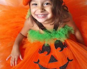 bb2187c2366f Girls Pumpkin Halloween Costume Pumpkin Halloween Costume Pumpkin Tutu  Dress Pumpkin Tutu Pumpkin Costume Girls Pumpkin Costume Baby Pumpkin