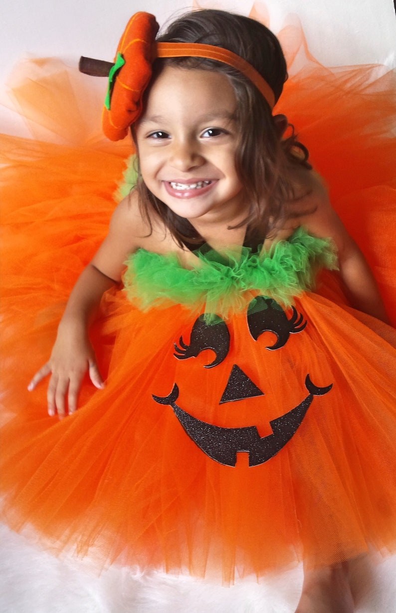 9da0809a2608 Girls Pumpkin Halloween Costume Pumpkin Halloween Costume | Etsy