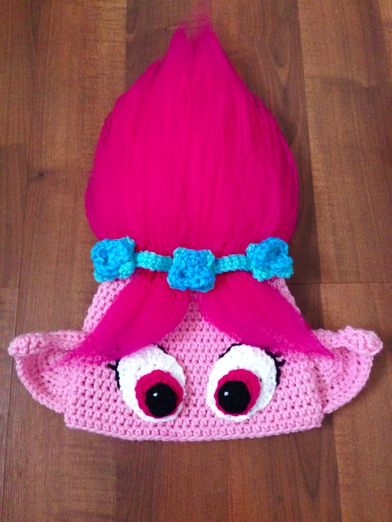 Poppy inspired Crochet Hat Troll Hat Poppy Troll Crochet  fddc6184123