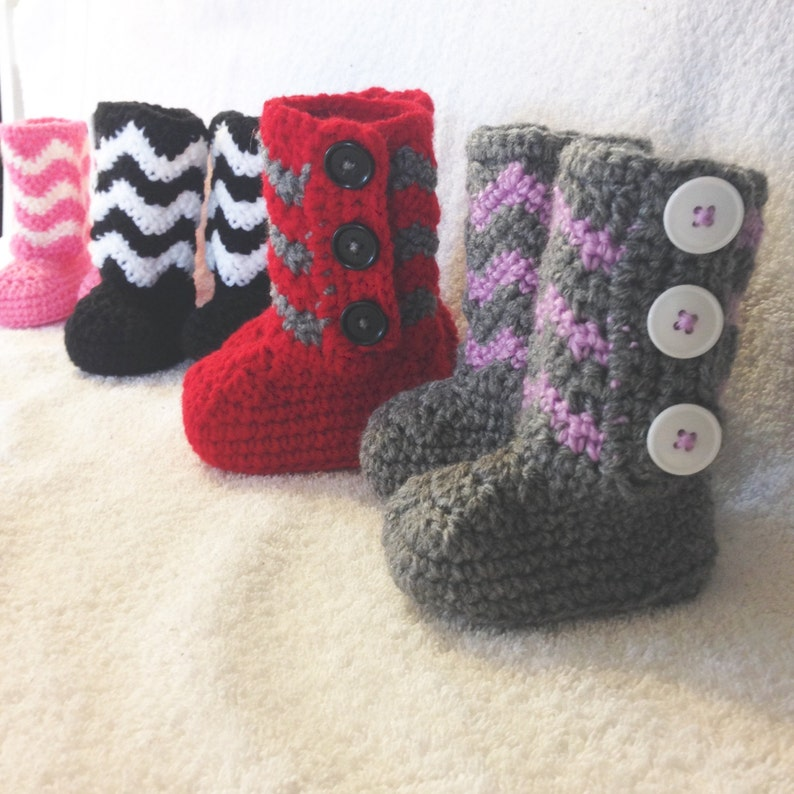 c961cddd4fd Crochet booties, Chevron, Button booties, Valentine's Day, Valentine,  Easter, Baby Booties, Toddler booties, Adult slippers, boots