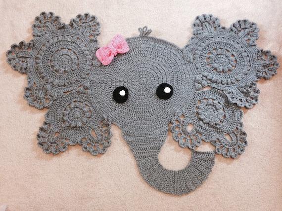Elefant Teppich Häkeln Teppich Baby Elefant Dekor Junge Etsy