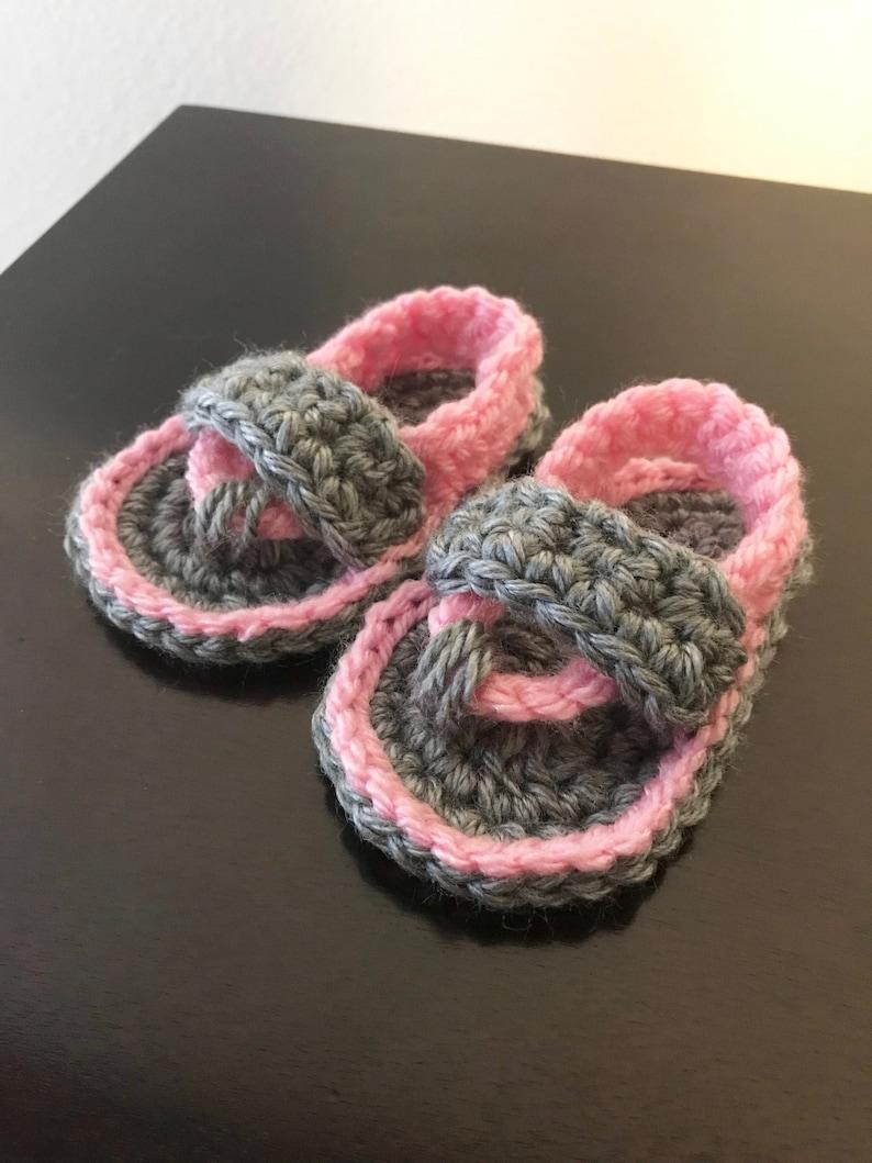 59ba6b2cf Baby Sandals Baby Flip Flops Baby Shoes crochet sandals