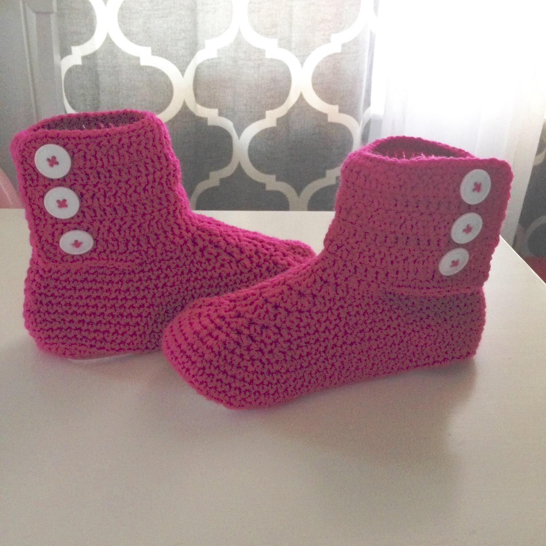 Gehäkelte Babyschuhe Erwachsene Stiefel Hausschuhe Stiefel