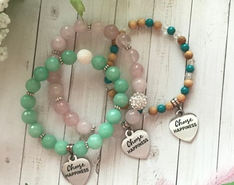 Choose Happiness - charm bracelet