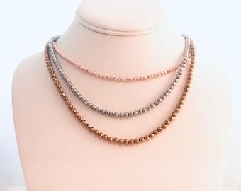 Hematite wrap necklace