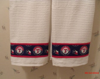 Texas Rangers Bath Towels Shower Curtain Set Fathers Day Gift Birthday Housewarming