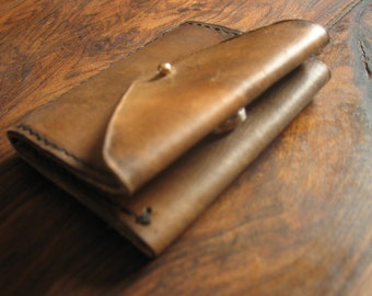 A leather handmade wallet