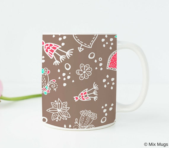 Gifts Under 20 For Her Birthday Floral Mug Heart