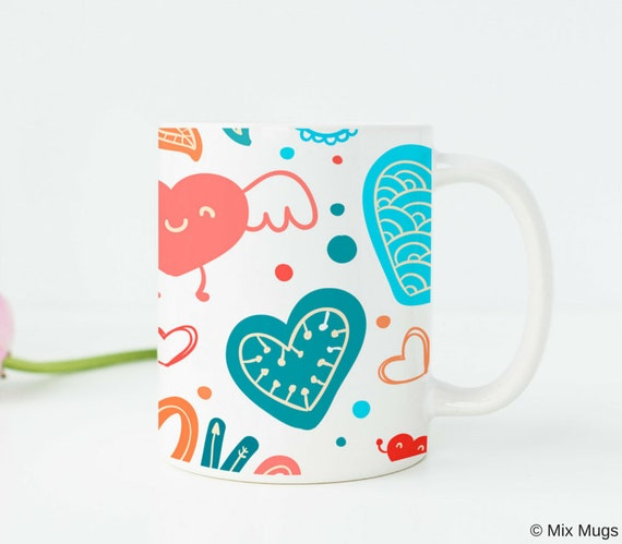 Gifts Under 20 Cute Mug Cups Heart Unique For