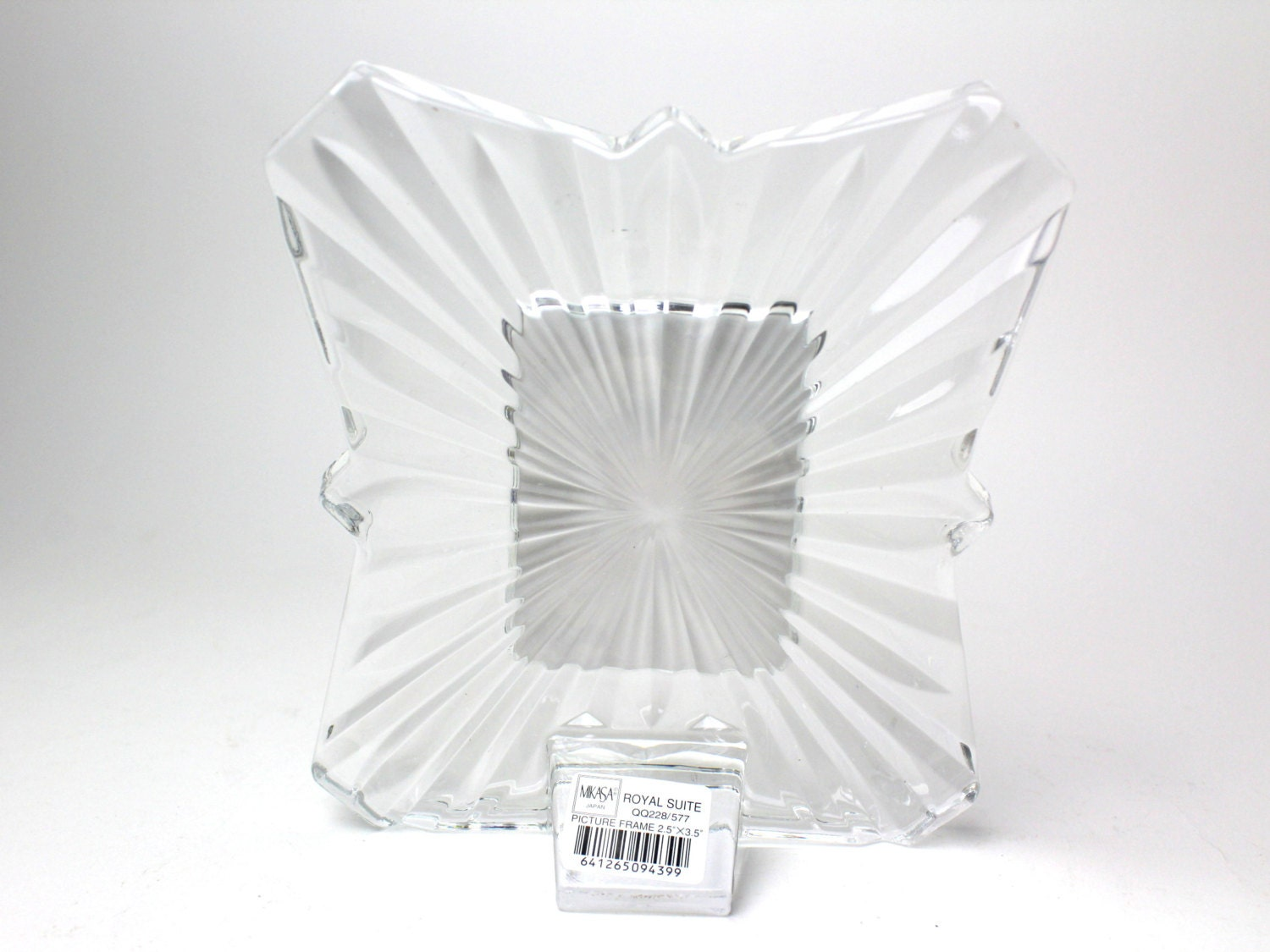 Vintage Mikasa Crystal Picture Frame - Fits 2.5\
