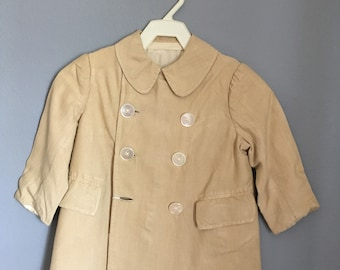 Edwardian Boy's Double Breasted Coat with Shell Buttons