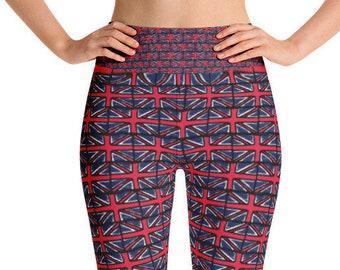 Royal wedding, leggings, union jack, british flag, womens leggings, meghan and harry, british yoga crossfit barre workout pants