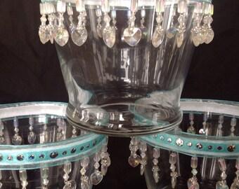 Heart Filled Glass Vase