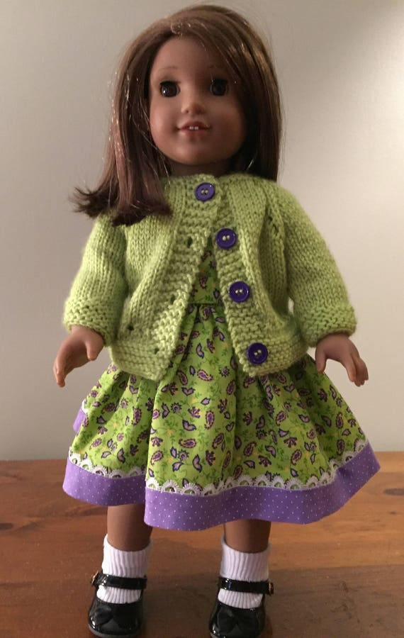 "Handmade SHORT Cotton Navy /& White Zig Zag Print Dress made to fit 11 1//2/"" Doll"