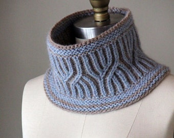 knitting pattern, knit cowl, pattern, knit pattern, cowl pattern, brioche cowl, Lavington Cowl, diy instructions, instant download pdf